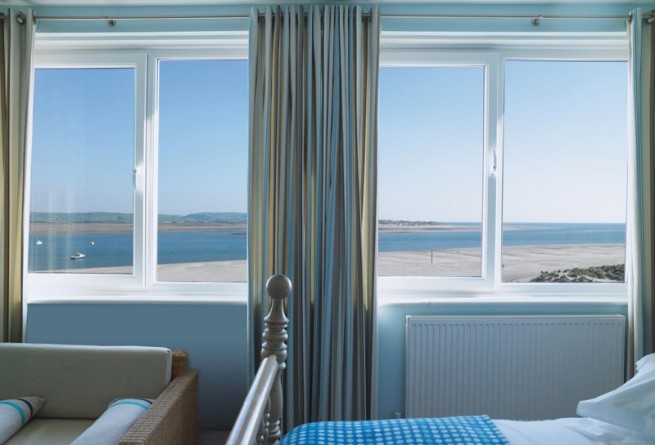 Bedroom with view of Cardigan Bay
