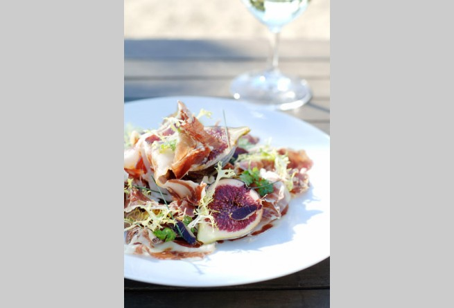 Jamon and fig salad