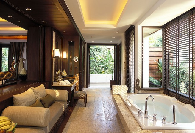 Ocean View Pool Villa bathroom