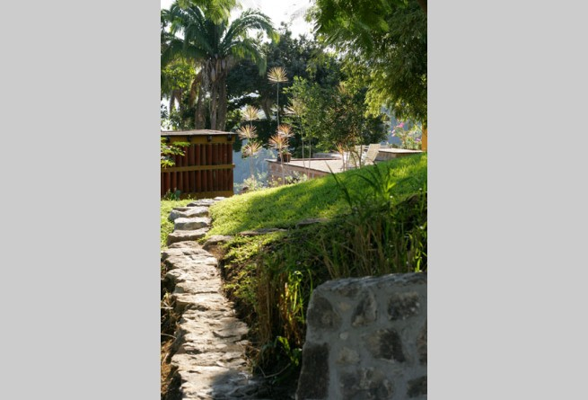 Path through the villas