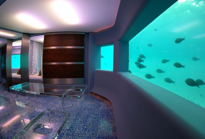 Lime underwater spa
