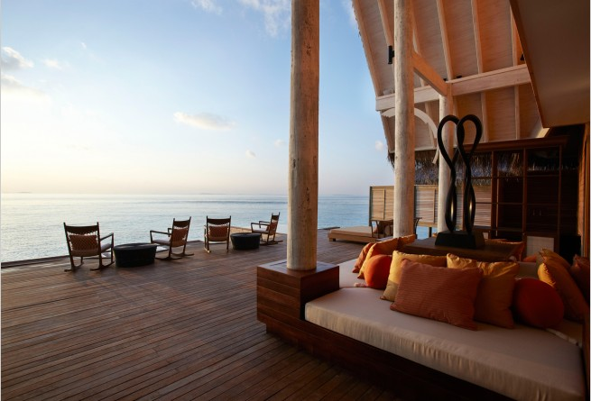 Spa relaxation deck ocean view