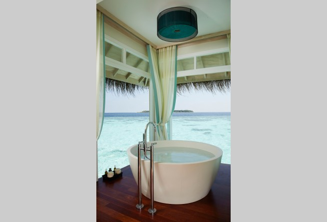Spa treatment room bathtub