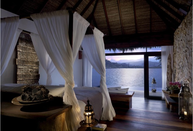 Overwater Villa bedroom
