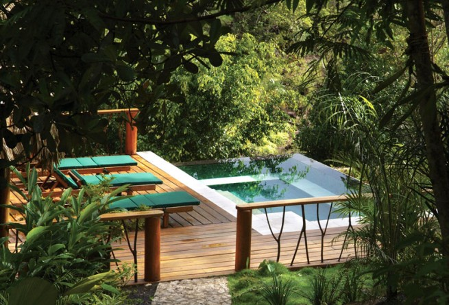 The infinity plunge pool at the Coppola Villa