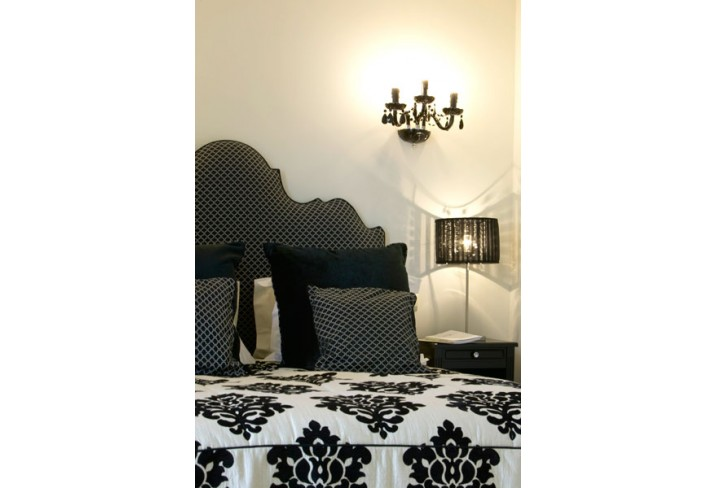 Mr & Mrs Smith - Black and White bedroom